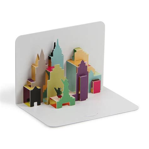 pop up new york city skyline 3d pop up card