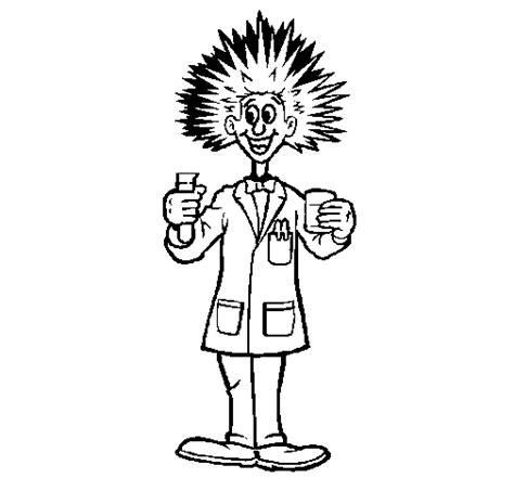 dibujos para colorear de cientificos dibujo de cient 237 fico loco para colorear dibujos net