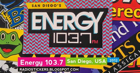 house music radio station los angeles radio station stickers and more energy 103 7 san