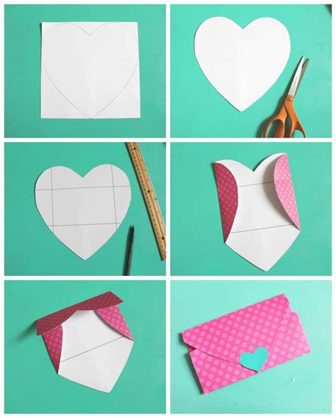 How To Make A Shaped Paper - shaped envelopes a and a glue gun