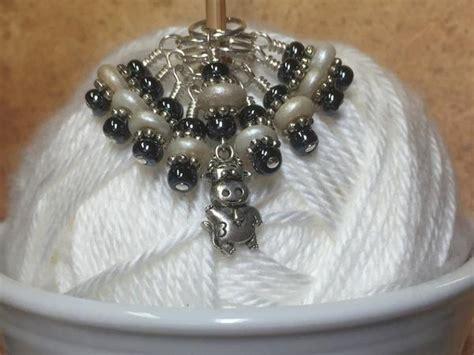Cow Set Pashmina cow knitting stitch marker set s beaded knit bits