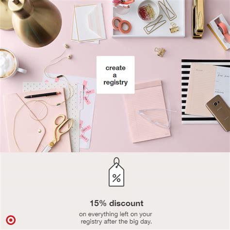 Wedding Registry Discount by Target Wedding Registry 15 Discount
