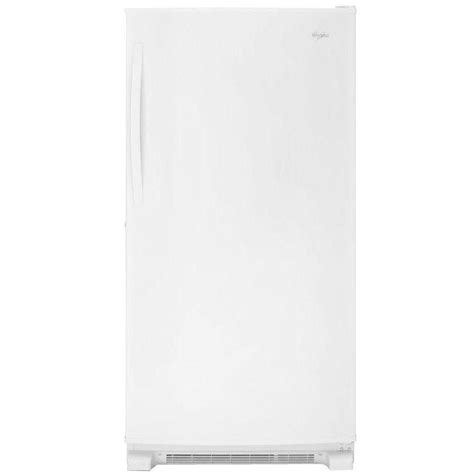 whirlpool 19 7 cu ft free upright freezer in white