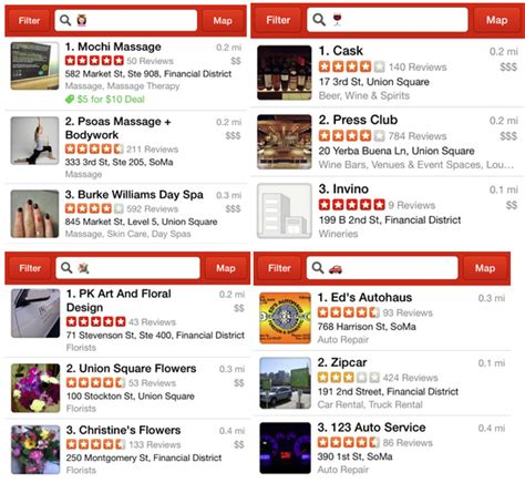 Yelp Search Yelp Lets You Search With Emoji