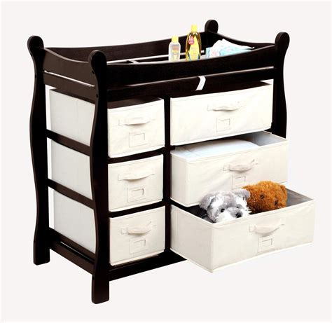 Badger Basket Sleigh Style Baby Changing From Wayfair Oh Badger Basket Changing Table