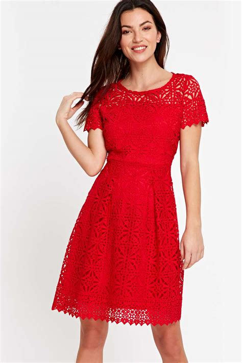 red crochet dress red crochet lace dress view all new in new in wallis