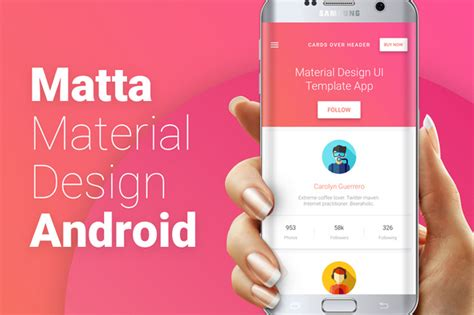 Card Template Android by 9 Best Android Material Design App Templates Csform