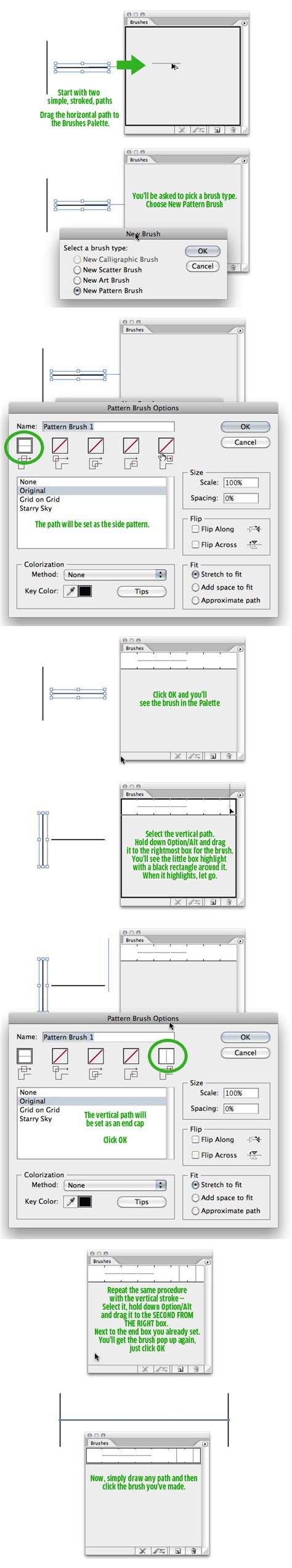 make pattern brush illustrator cs6 how to create my own arrow effects in illustrator cs 2