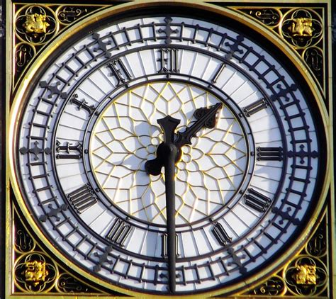 london  big ben clock face  pm flickr photo