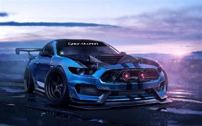 download wallpapers ford mustant, art, tuning, supercars