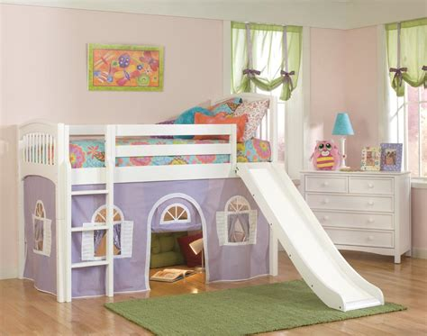 kid bed with slide woodwork kids loft beds pdf plans