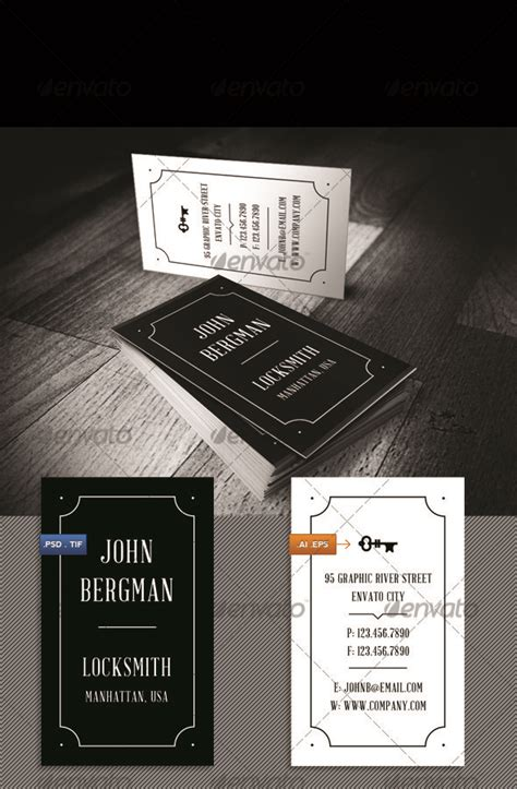 locksmith business cards templates locksmith visit card by nrthprk graphicriver