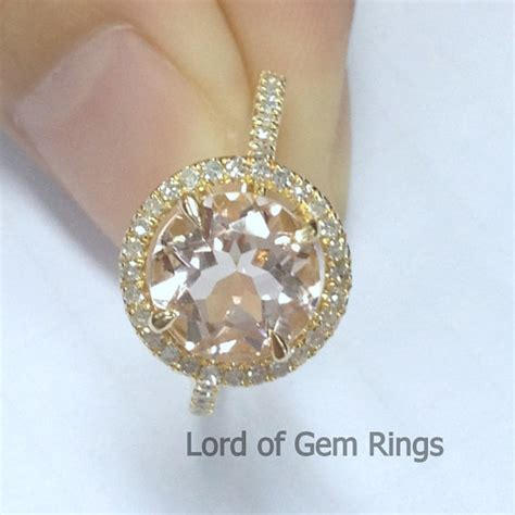 8mm 2 35ct vs morganite engagement ring in 14k