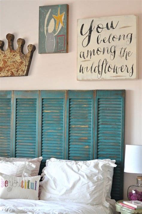Shutter Headboard Ideas by 7 Inspiring Ways To Use Vintage Shutters On Your Walls