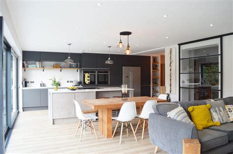 modern kitchen installation in london dark grey matt and