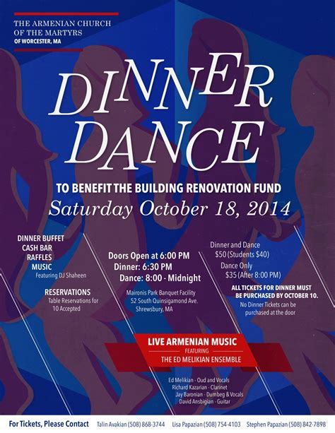 dinner poster worcester s church of the martyrs to hold dinner