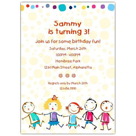 Drink Coasters by Cheerful Kids Birthday Invitations Paperstyle