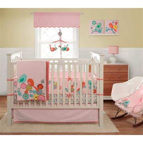 migi modern blossom 3pc crib bedding collection bundle