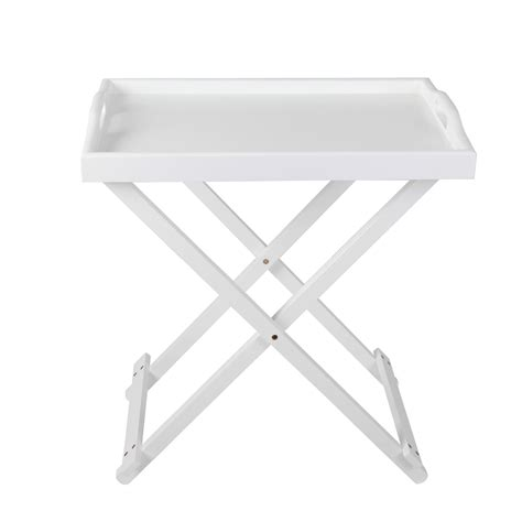 serving tray side table serving tray side table with handle in white
