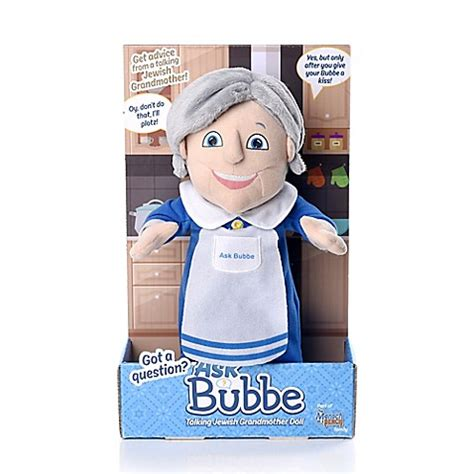 chabad benching mensch on a bench ask bubbe talking jewish grandmother doll bed bath beyond