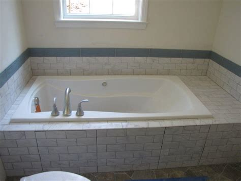 installing tile around bathtub garden tub shower