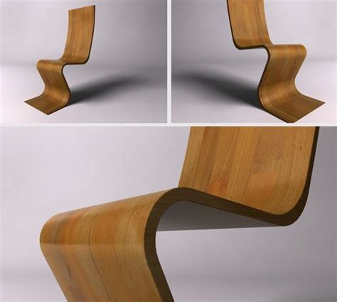 unique and stylish wooden chair in wavy shape m 233 rise