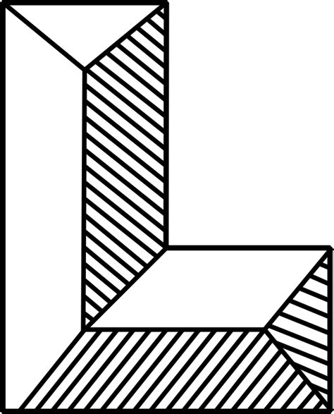 black and white l shaped clipart l shaped building