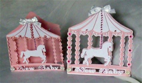 carousel card template craftrobo cameo template baby carousel card topper set