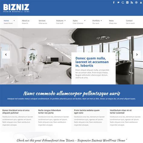 wordpress layout business bizniz responsive business wordpress theme best