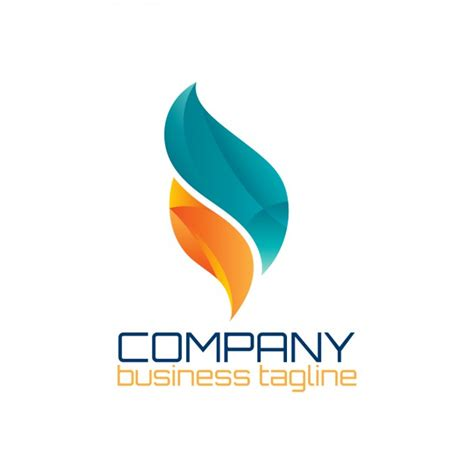 graphic design logo free download abstract logo in flame shape vector free download