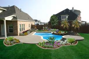 Backyard Landscaping Ideas With Pool Tell A Landscape Ideas For Backyard With Dogs Sammy