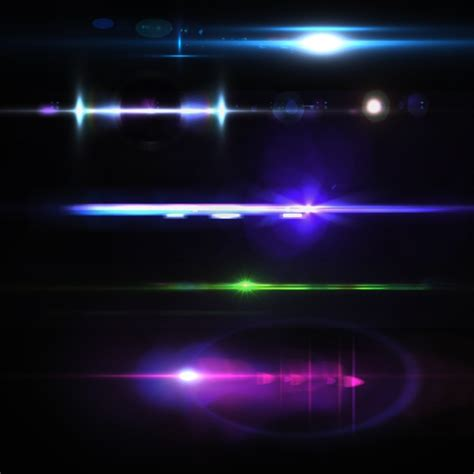 lights effects coloured lights collection psd file free