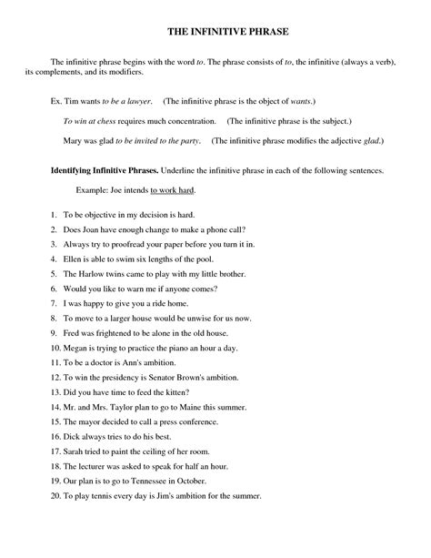 Gerunds And Infinitives Worksheets With Answers by Gerund Phrase Worksheet Worksheets Releaseboard Free Printable Worksheets And Activities