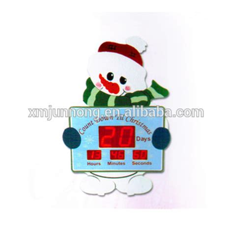 countdown to christmas snowman lighted digital clock yard decor big size led digital snowman countdown timer creative digital product buy digital