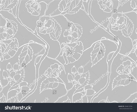 floral pattern in french seamless elegant pattern flowers leaves background stock