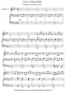 Carol of the bells sheet music for clarinet 8notes com
