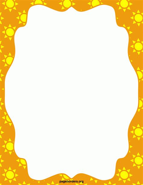 free sun clipart to decorate best summer border clip 8066 clipartion
