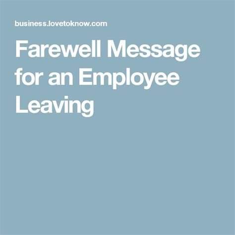 Best wishes quotes for employee leaving company m4hsunfo