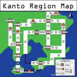 Kanto World Map by Pokemon Labeled Kanto Map By Theartfridge On Deviantart