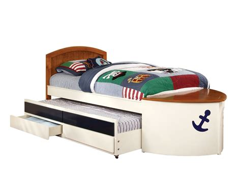 kids boat bed pottery barn kids speedboat ii bed and trundle decor