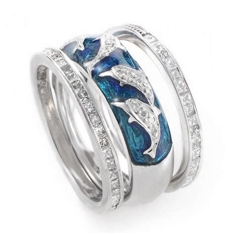dolphin wedding ring sets on our animal jewelry