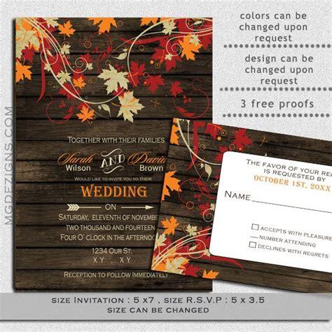 Fall Wedding Invitation Templates by Templates Picmia