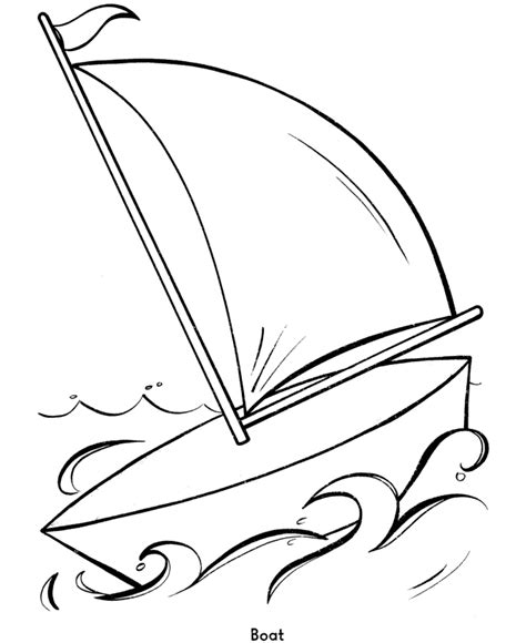 Boat Coloring Pages For Kids Coloring Home Easy Coloring Pages For Boys Free