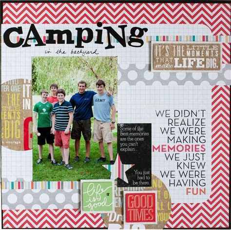 Scrapframe Scrapbook Layout A Day To Remeber the great outdoors scrapbook layouts me my big ideas