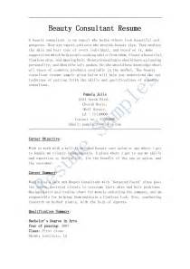 Resume Sle For Fitness Consultant Advisor Resume Sales Advisor Lewesmr