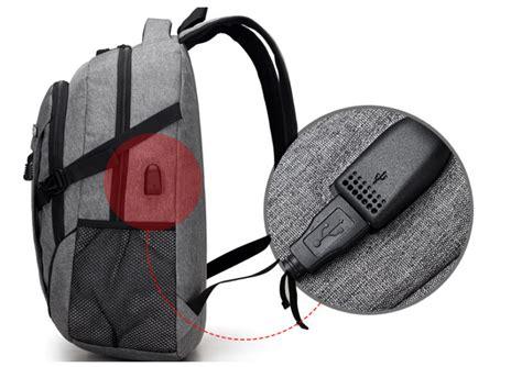 Tas Ransel Laptop Oxford Pria Usb Charger Port Gadged Backpack tas ransel laptop oxford pria dengan usb charger port black jakartanotebook