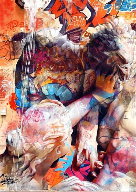 spanish artists pichiavo created greek gods graffiti