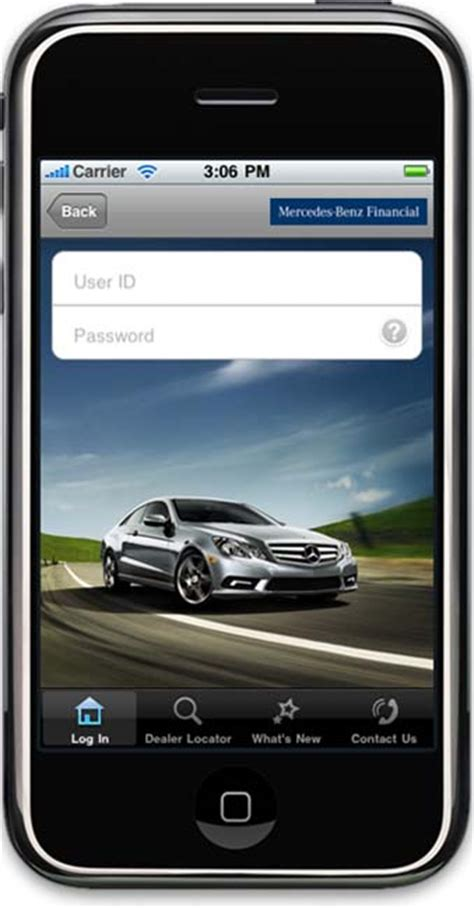 Mercedes Financial Phone by Mercedes Financial Launches Iphone App