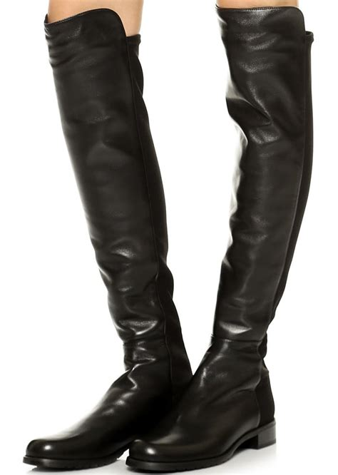 alessandra ambrosio in stuart weitzman 5050 leather boots