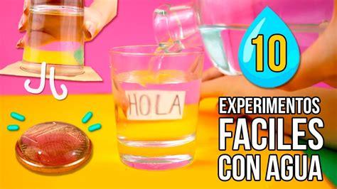 experimentos faciles 4 trucos increibles con agua que puedes hacer en casa